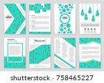 abstract vector layout... | Shutterstock .eps vector #758465227