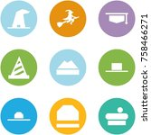 origami corner style icon set   ... | Shutterstock .eps vector #758466271