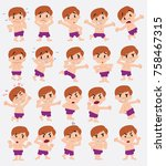 cartoon character boy in a... | Shutterstock .eps vector #758467315
