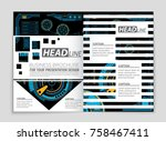 abstract vector layout... | Shutterstock .eps vector #758467411