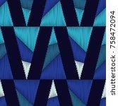 ethnic boho seamless pattern.... | Shutterstock .eps vector #758472094