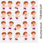 cartoon character boy in a... | Shutterstock .eps vector #758484169