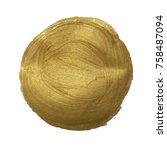 golden paint ball  vector... | Shutterstock .eps vector #758487094