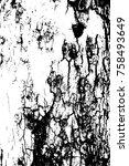 distressed halftone grunge... | Shutterstock .eps vector #758493649