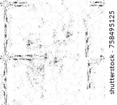 grunge black and white seamless ...   Shutterstock . vector #758495125