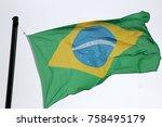 national flag of brazil   Shutterstock . vector #758495179