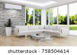 modern bright room with air...   Shutterstock . vector #758504614