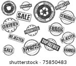 set of rubber stamps | Shutterstock .eps vector #75850483