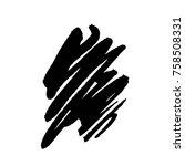 grunge ink pen stroke   Shutterstock .eps vector #758508331
