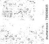 grunge black and white seamless ... | Shutterstock . vector #758508835