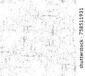 grunge black and white seamless ...   Shutterstock . vector #758511931