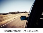 motion blur view of road with... | Shutterstock . vector #758512321