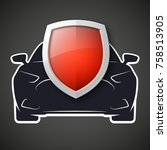 protect car guard shield.... | Shutterstock .eps vector #758513905
