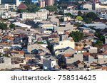 aerial view of a low rise...   Shutterstock . vector #758514625