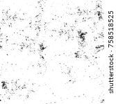 grunge black and white seamless ... | Shutterstock . vector #758518525