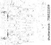 grunge black and white seamless ... | Shutterstock . vector #758522359