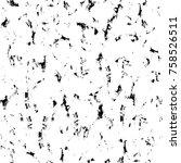 grunge black and white seamless ... | Shutterstock . vector #758526511