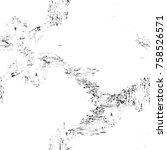 grunge black and white seamless ... | Shutterstock . vector #758526571