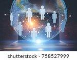 people network hologram in...