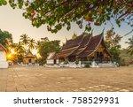wat xieng thong  golden city... | Shutterstock . vector #758529931