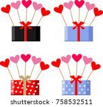 happy valentine's day | Shutterstock .eps vector #758532511