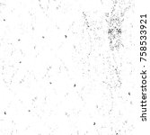 grunge black and white seamless ...   Shutterstock . vector #758533921