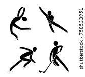 silhouette ice figure skating...   Shutterstock .eps vector #758533951