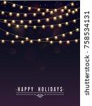 glowing light bulbs design... | Shutterstock .eps vector #758534131