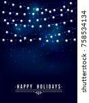 glowing light bulbs design... | Shutterstock .eps vector #758534134