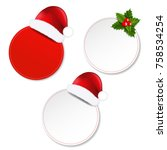 xmas banners set with gradient... | Shutterstock .eps vector #758534254
