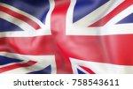 flag  united kingdom  waiving...   Shutterstock . vector #758543611