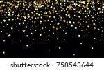 many random falling stars...   Shutterstock .eps vector #758543644