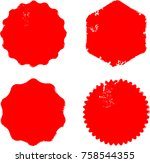 grunge post stamps collection ... | Shutterstock .eps vector #758544355