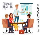 business meeting vector.... | Shutterstock .eps vector #758544511