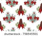 christmas vector seamless...   Shutterstock .eps vector #758545501