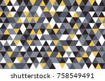abstract retro pattern of... | Shutterstock .eps vector #758549491