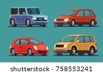 car vector template on gray... | Shutterstock .eps vector #758553241