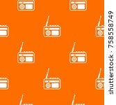 radio pattern repeat seamless... | Shutterstock .eps vector #758558749