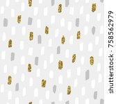 seamless vector pattern with... | Shutterstock .eps vector #758562979