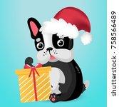 vector illustration of cute... | Shutterstock .eps vector #758566489