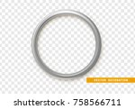 silver round frame isolated on... | Shutterstock .eps vector #758566711