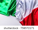 authentic flag of the italy   Shutterstock . vector #758572171