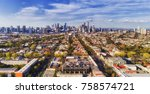 aerial view of melbourne city...   Shutterstock . vector #758574721