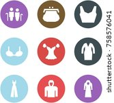 origami corner style icon set   ... | Shutterstock .eps vector #758576041