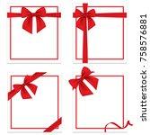 set gift card vector... | Shutterstock .eps vector #758576881