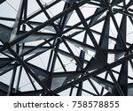 steel structure modern building ... | Shutterstock . vector #758578855