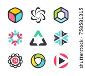 vector symbols and icons for... | Shutterstock .eps vector #758581315