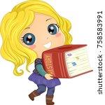 illustration of a kid girl... | Shutterstock .eps vector #758583991