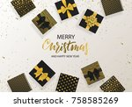 merry christmas and happy new... | Shutterstock .eps vector #758585269