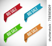 set of big sale vector banners | Shutterstock .eps vector #758585809
